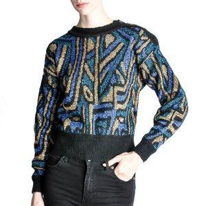 Christian Dior Vintage Metallic Sweater
